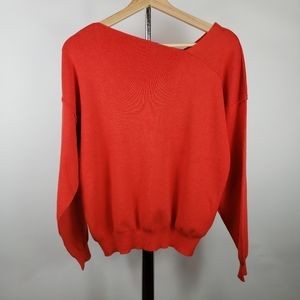 FOREVER 21 Womens Pullover Sweater Orange Knit